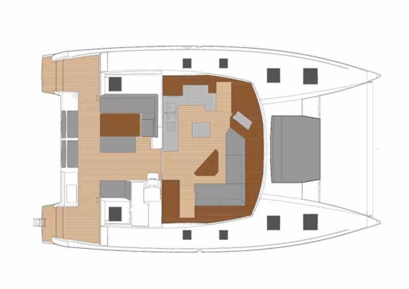 Fountaine Pajot New 47 Grundriss Salon