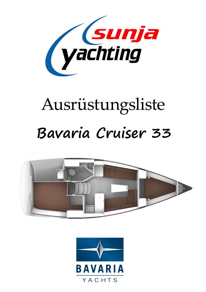 Bavaria Cruiser 33 Ausrüstungsliste
