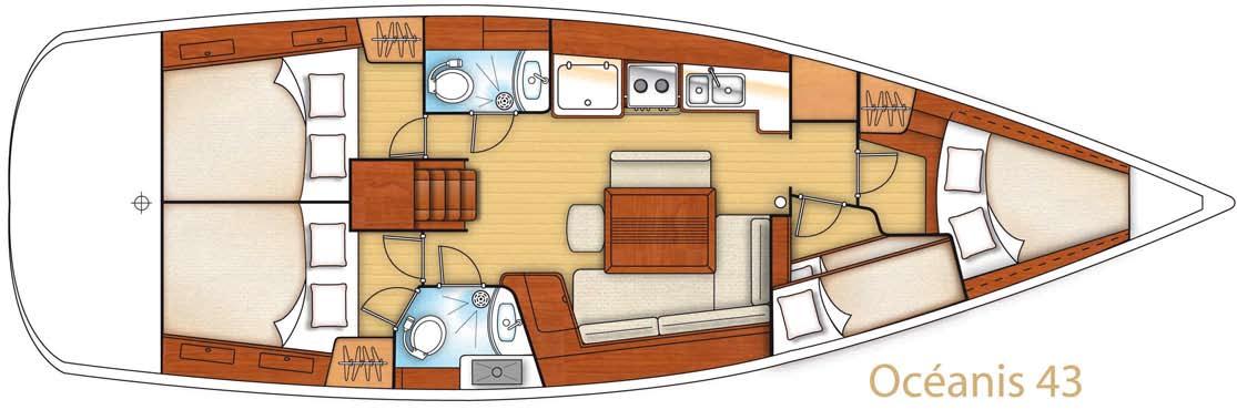 Beneteau Oceanis 43 Deckplan