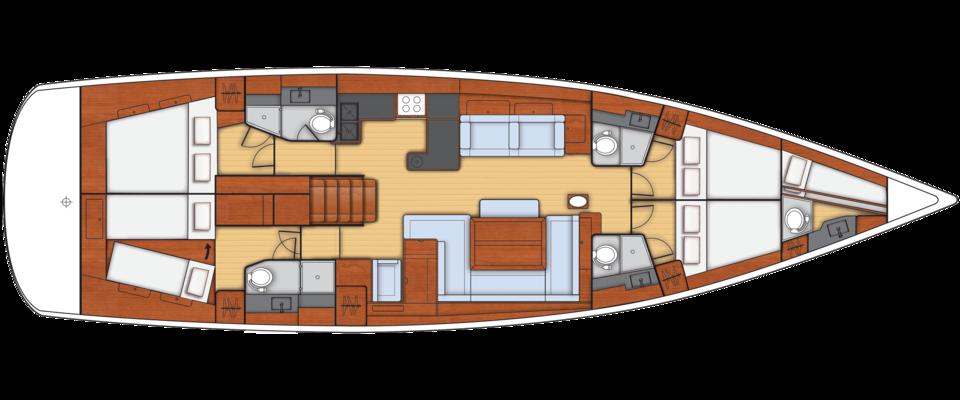 Beneteau Oceanis 58 Kroatien Plan