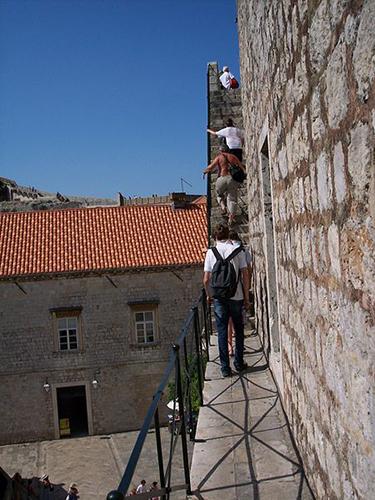 Steile Treppe Dubrovnik