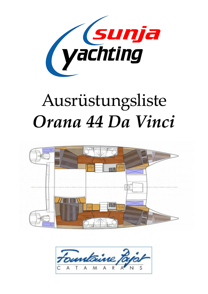Ausrüstungsliste Orana 44 Da Vinci