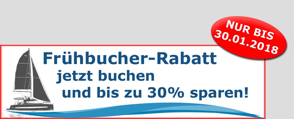 Bis zu 30% Frühbucher-Rabatt