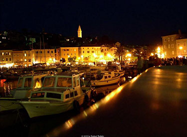Hafenpromenade Mali Losinj Abends