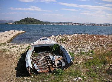 Ausblick auf die Küste Murter Kroatien