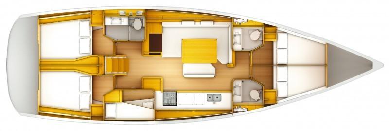 Jeanneau Sun Odyssey 509 Riss 5 Kabinen