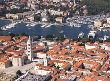 Luftaufnahme von Zadar