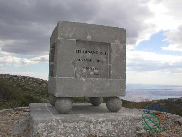 Naturpark Velebit Denkmal