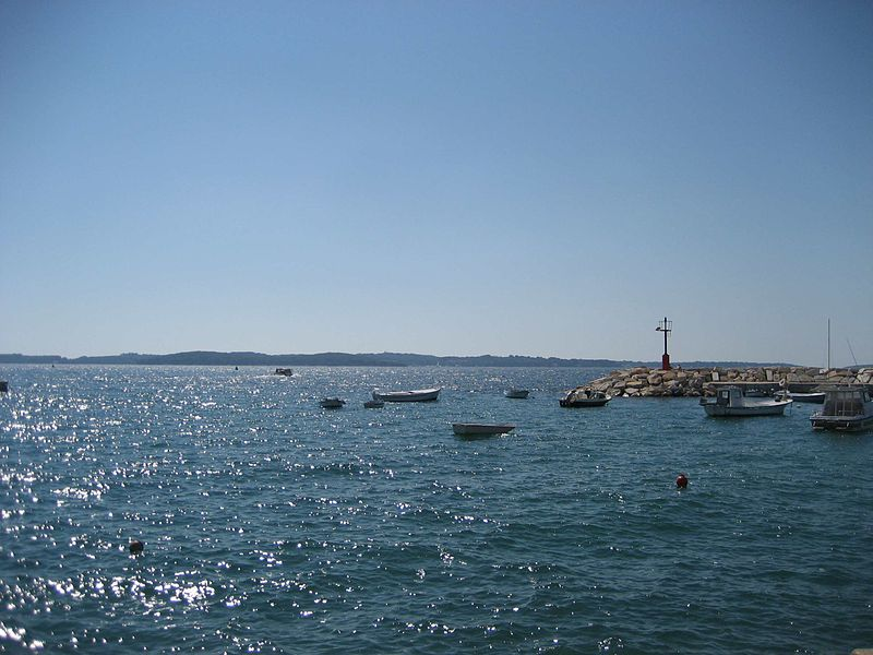 Fazana view to Kornati Island Croatia