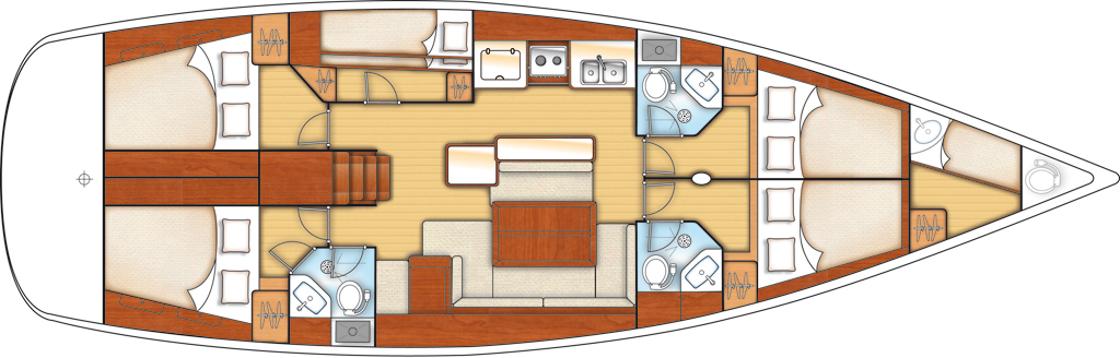 Beneteau Oceanis 50 Deckplan
