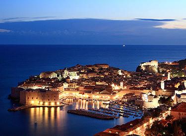 Ausblick auf Dubrovnik Abends