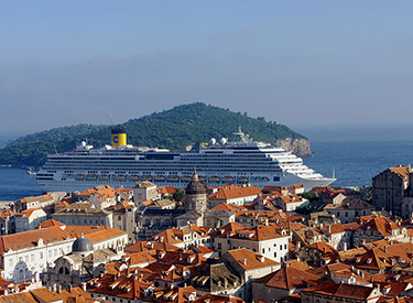 Costa Schiff vor Dubrovnik