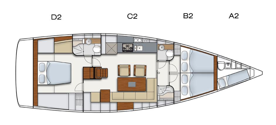 Hanse 495 Kroatien Plan
