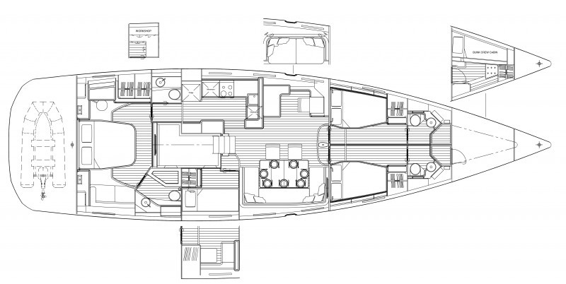 Jeanneau 64 Deckplan