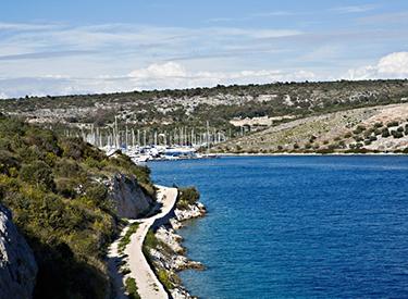 Ausblick auf die Marina Primosten
