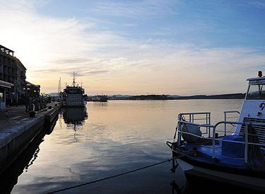 Hafen Sibenik Abends
