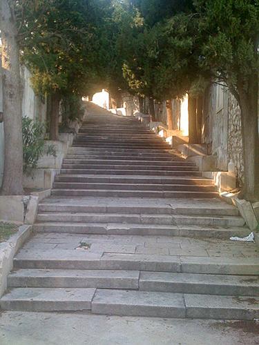 Romantische Treppe Sibenik