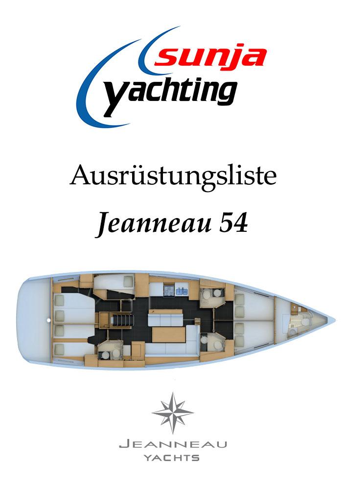 Ausrüstungsliste Jeanneau 54
