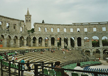 Amphitheater in Pula Kroatien von innen