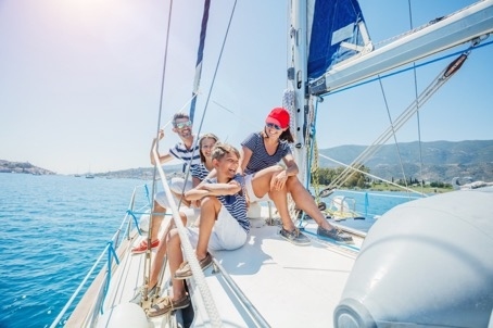 Relingsnetz-Familien-Yachtcharter Kroatien