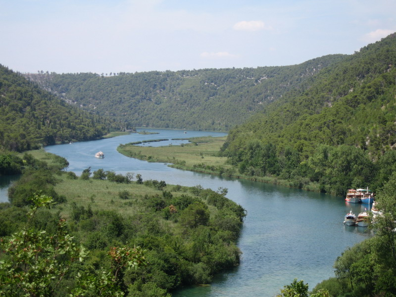 Ausblick Krka Nationalpark