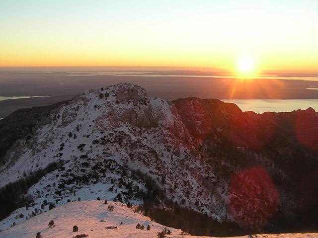 Nationalpark Paklencia Sonnenuntergang